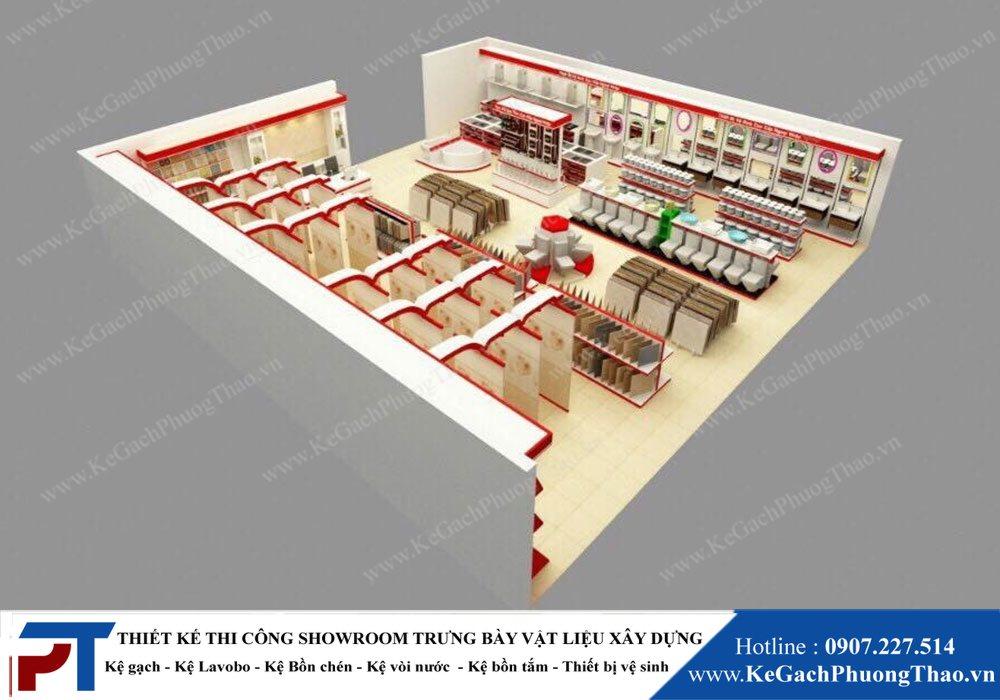 Thiết kế showroom trưng bày gạch men,gạch ốp,vật liệu xây dựng 1